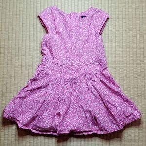 GAP Sleeveless Floral Dress w/ Pleat Detail, XS
